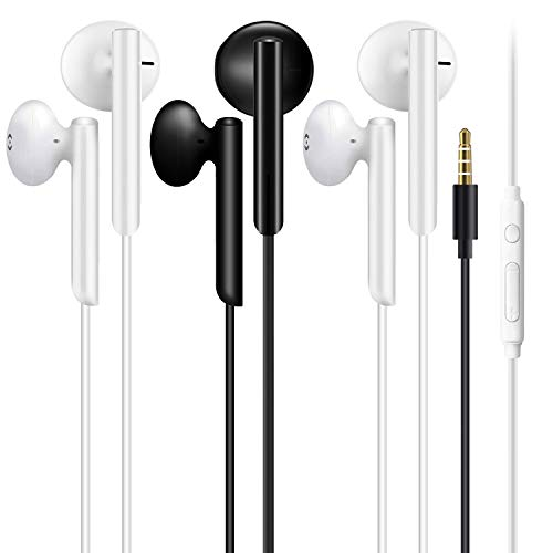 3 Pack Earphones, In-Ear Headphones Wired Earbuds, Noise Isolating Headset...