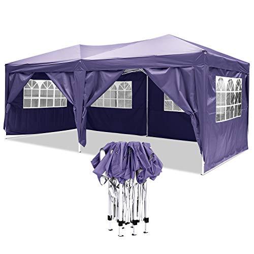 YUEBO Tonnelle Pliante imperméable Barnum 3x6 m Gazebo Tonnelle Pliable Tent Pliante Chapiteau de Reception pour Jardin,fête