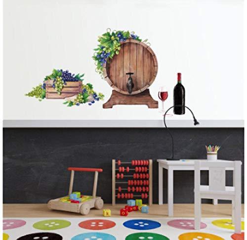 Muurstickers (DIY) Wijnvat Muursticker Keuken Tegel Bar Slaapkamer Woonkamer Winkel Huisdecoratie Art muursticker