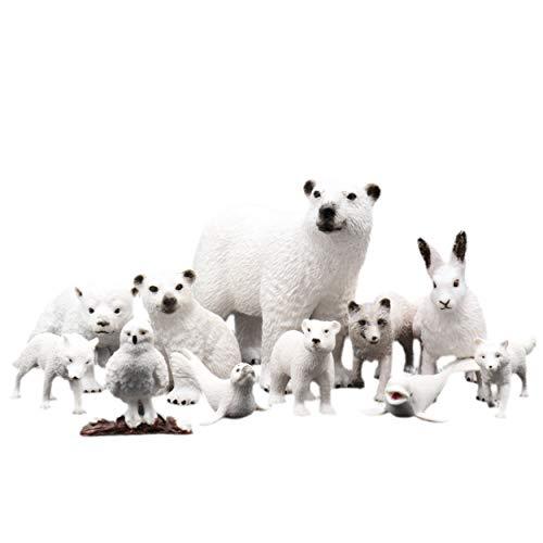 TMORU Arctic Animal Figures  11Pcs Polar Realistic Animal Figurines  Birthday Toy Gift for Kids