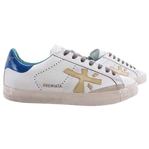 PREMIATA Damen Sneakers Steven D 4716 Leder Weiss Blau