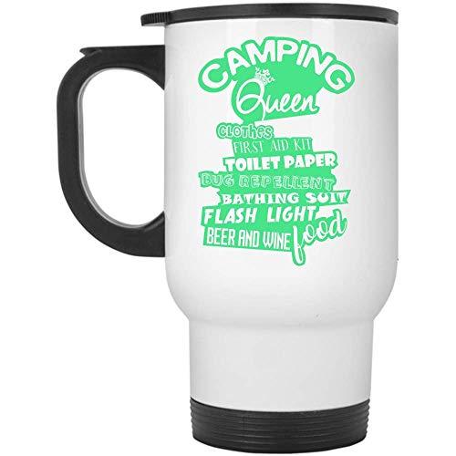 Taza de viaje Flash Light para cerveza y vino, para acampar, ropa de reina, botiquín de primeros auxilios (taza de viaje, color blanco)