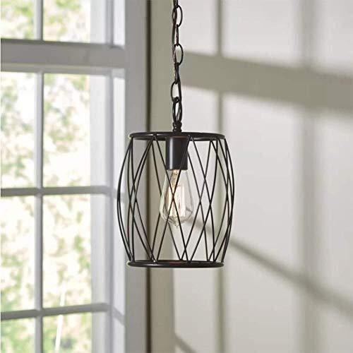 IT Lampadario singolo capo Iron Bar Hanging Lamp Agriturismo Light Fixtures del soffitto del lampadario a bracci di illuminazione for sala da 110~240V della luce di soffitto
