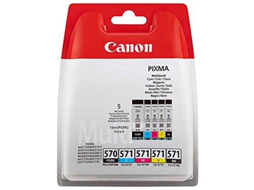 Canon original - Canon Pixma MG 5750 (PGI-570 CLI 571 / 0372 C 004) - Tintenpatrone MultiPack black black cyan magenta yellow