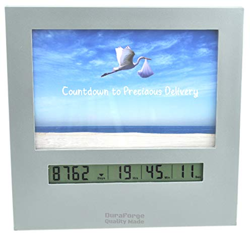 Digital Reusable Baby Advent Calendar Day Timer & Countdown Clock with 4x6 Picture Frame, Countdown Pregnancy Days to New Baby Vacation Christmas Xmas Birthday Easter Halloween or Days Left in 2020