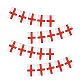 Wimpelkette England EM 2021 Fußball Olympia Fan Flagge (20 Flaggen/5 m Länge)