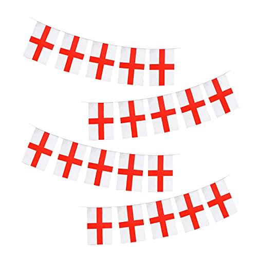 SCYYFSM Bandera de Inglaterra para ventana, bandera de Inglaterra, colgante de bandera de Inglaterra, decoración del hogar, color blanco