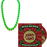 Jingle Jam Rock: Holiday Hits Go Lullaby - Holiday Lullaby & Teething Necklace Set (CD+Holiday Green Necklace)