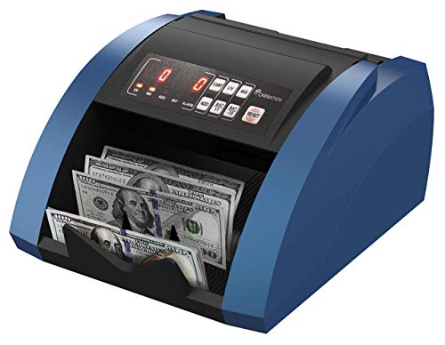 CARNATION USA Bill Money Counter with UV and Magnetic Counterfeit Detection – with Free Counterfeit Detector Pens