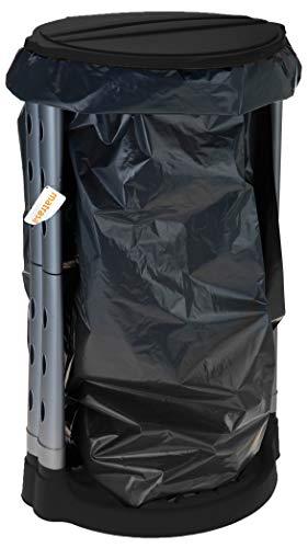 matrasa Stabiler Müllsackständer - ideal für Gelber Sack - für Säcke bis 120 L - Müllsackhalter Abfallhalter (120L - schwarz)