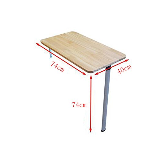 Zhuozi FUFU wandhouder muur klaptafel massief houten eettafel Home Computer leren eettafel voor kleine woning aluminiumlegering tafelpoot in 5 maten drop-blad-tabel