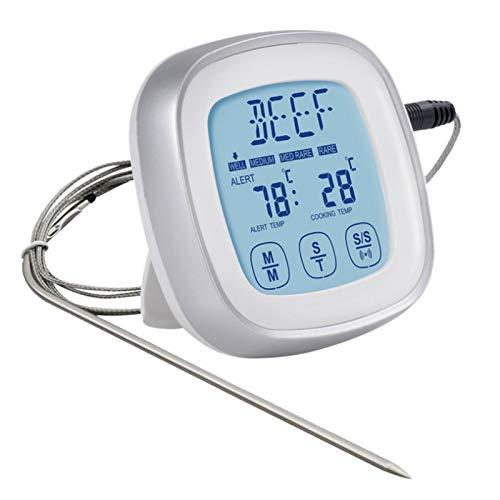 Tiamu Termometro da Cucina, Controluce Termometro Cottura con Display LCD Utilizzato per misurare la temperatura alla griglia del latte, del barbecue e di altri alimenti