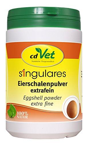 cdVet Naturprodukte Singulares Eierschalenpulver extrafein 1 kg - Hund, Katze - Calciumquelle - bei Rohfütterung+knochenfreier Ernährung - bekömmlich bei Wachstum+Trächtigkeit+Laktation -