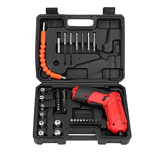Electric Drill Screwdriver Set, Electric Screwdriver Set 47Pcs Mini Electric Screwdriver Set 250 RPM Speed Cordless Electric Screwdriver Set for Repair Tool