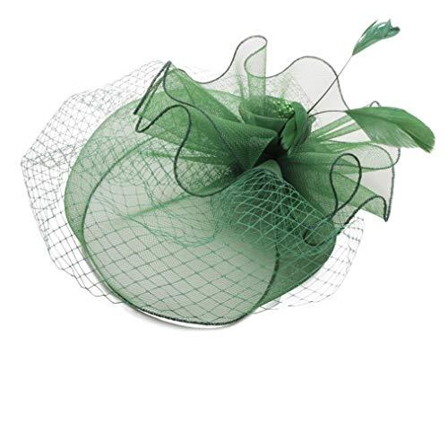Large Turquoise Bec Clip Plume Femmes Jour Chapeau Mariage Courses 9
