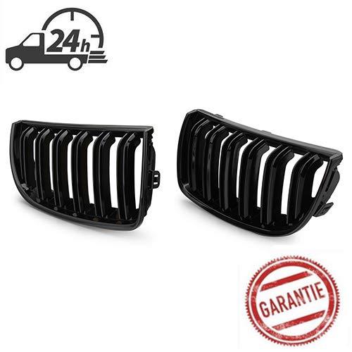 Rejilla de radiador deportiva doble para E90 y E91, 3 unidades, color negro