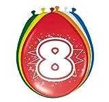 Folat - 8 Año Globos para Fiesta Decoración -...