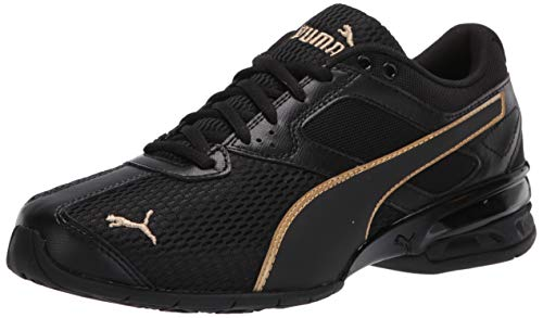 PUMA Women's Tazon 6 Sneaker, Black Team Gold, 9 M US