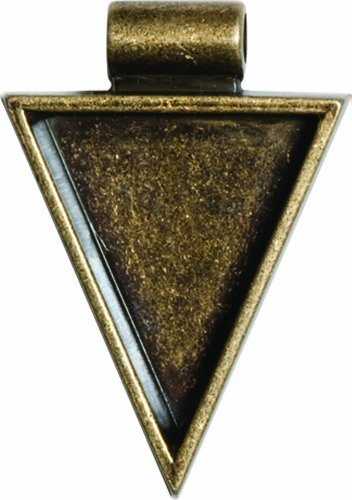Lisa Pavelka Antique Gold Triangle Bezel Settings, Nickel and Lead Free, 1 by JHB - Lisa Pavelka