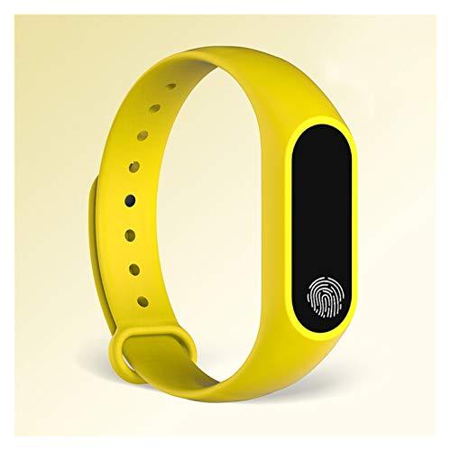 XUEXIU Pulsera Deportiva Reloj Inteligente Relojes para Niños Niños para Niñas Niños Pulsera Infantil Banda Inteligente Banda Fitness (Color : Yellow)