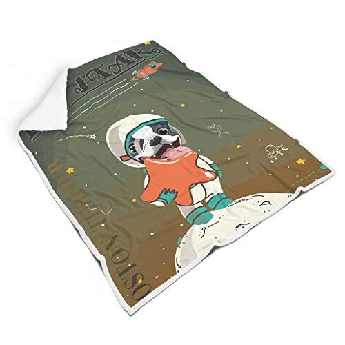 Rinvyintte hond Astronaut soepel verschillende patronen vierkante dekens voor kamers microvezel voor kinderen Prachtige stijl hond
