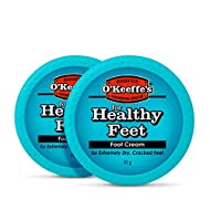 HARDWORKING SKINCARE: O'Keeffe's Healthy Feet foot cream was developed to hydrate and relieve extremely dry cracked feet, providing long-lasting results. INSTANT MOISTURE: O'Keeffe's Healthy Feet instantly boosts moisture levels and locks the moistur...