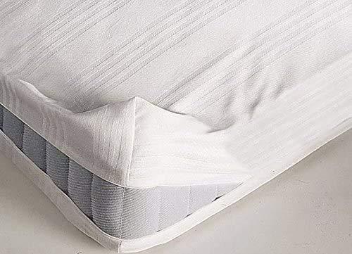 il dolce stile della tua casa coprimaterasso con Zip a Guscio, in Puro Cotone Disponibile Singolo o Matrimoniale (Matrimoniale)