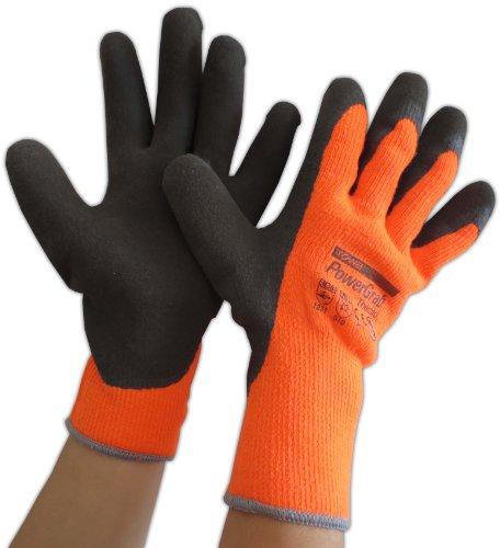 Power Grab Thermo Winterhandschuh 6 Paar Gr. 10 MicroFinish-Latexbeschichtung orange/braun Arbeitshandschuh
