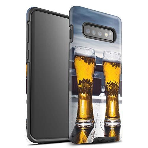 eSwish - Carcasa rígida para Samsung Galaxy S10 Plus, diseño de Cerveza, esquí, esquí, Tabla de Nieve