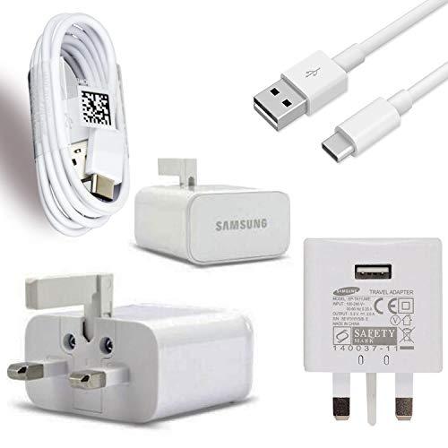 Samsung Galaxy A3(2017) Genuine Samsung Fast Adaptive Mains Plug & Genuine Samsung Type C Charge & Sync Cable (Samsung Galaxy A3(2017))
