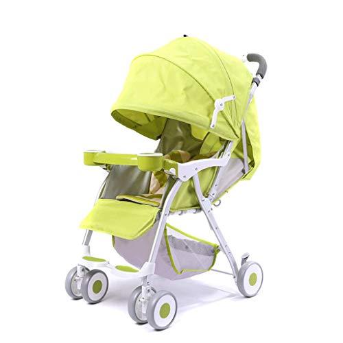 KLEDDP Kinderwagen Ultraleichter tragbarer faltender liegender Kinderhandwagen (grün) (lila) 76 x 48 x 95 cm Spaziergänger (Color : Green)