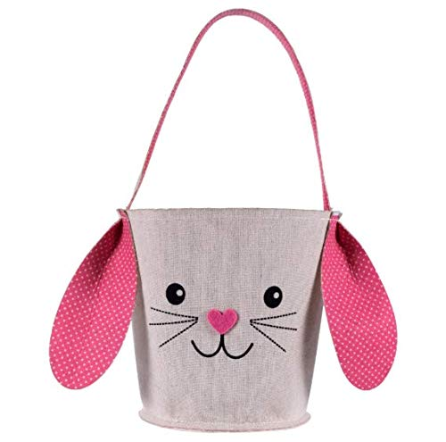 Greenbrier Fabric Bunny Easter Basket (Pink)