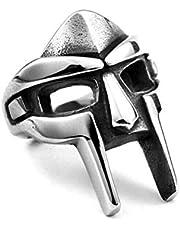 BASOYO Anello da Gladiatore Punk in Acciaio Inossidabile da Uomo Anello Stile Gladiatore Anello da Casco Nordic Pagan Viking Vintage Rings