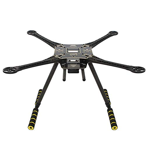 SODIAL S520 SK500 Kit Telaio Quadricottero Rack Un 4 Assi Un Braccio Super Duro con Carrello di Atterraggio nel Fibra di Carbonio Telaio F450 per FPV Dron