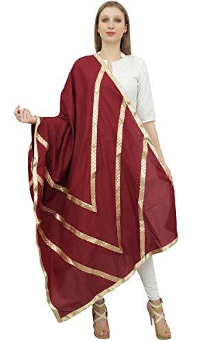 Phagun indischen Frauen Designer Chunni Cotton Dupatta Ethnische Stola Schal-Maroon