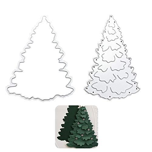 Troqueles de árbol de metal, Troqueles de corte de árbol de Navidad Molde de plantilla de Navidad Plantilla de metal troquelado de árbol Tarjeta de papel de álbum de troqueles 3D