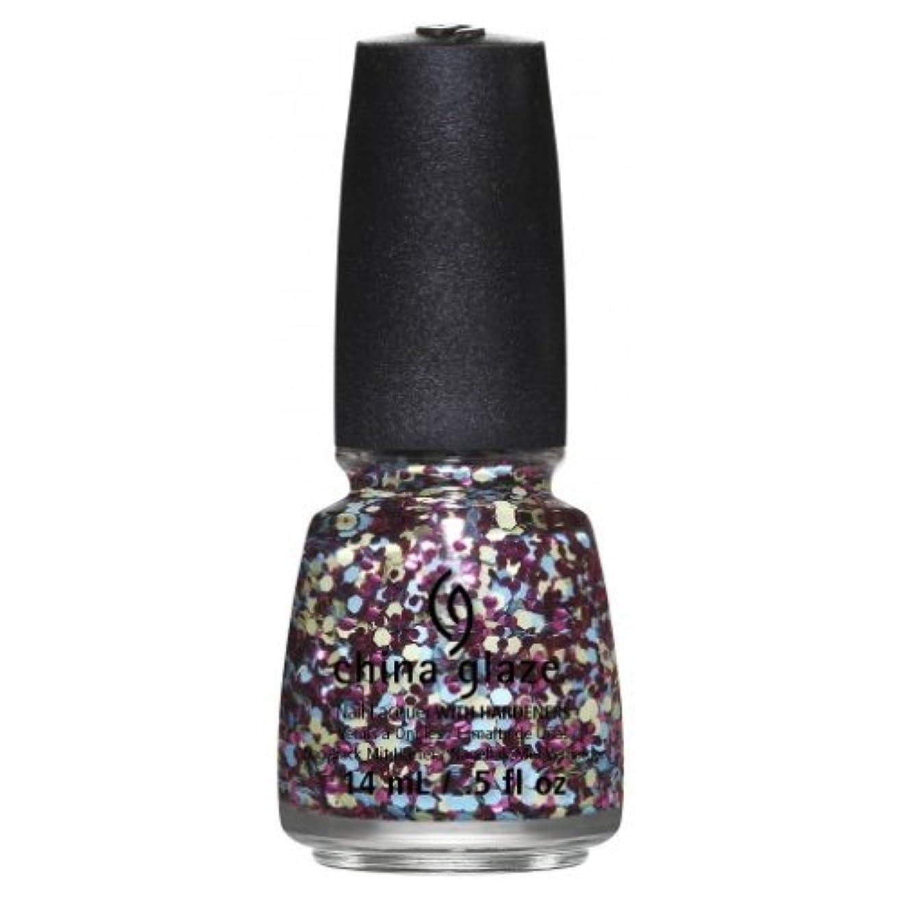 消す中級女将(6 Pack) CHINA GLAZE Nail Lacquer - Suprise Collection - I'm A Go Glitter (並行輸入品)