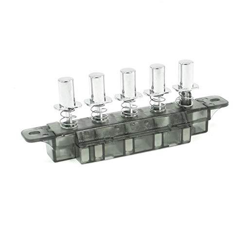COMEYOU Interrupteur à Clavier AC MQ165 250V 4A 5 Bouton-Poussoir Type Piano Interrupteur à Clavier pour hotte de Cuisine