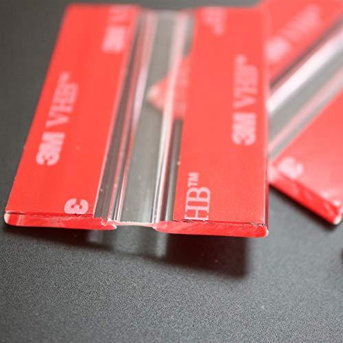 4x 50mm Bisagras Flexibles : no se requiere pegamento. Autoadhesivas. Plástico bisagras activas y flexibles, plexiglás. Bisagras acrílicas, continuas y transparentes de piano.