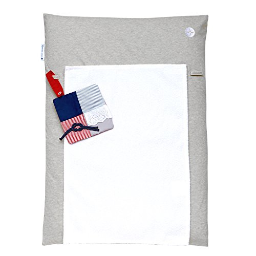 Wickelauflage 50 x 70   Graue Wickeltischauflage Schmal   Wickelmulde inkl. abnehmbares Frottee Handtuch   Alternative zu Wickelunterlage abwaschbar