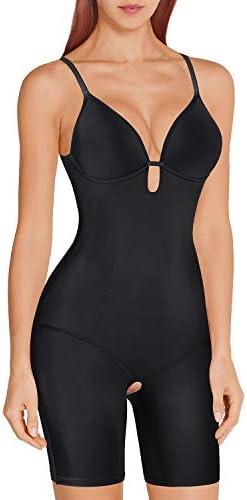 Irisnaya Women Shapewear Bodysuit Tummy Control Body Shaper Spaghetti Strap Bra Top Bodycon product image
