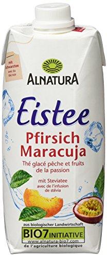 Alnatura Bio Eistee Pfirsich-Maracuja, 12er Pack (12 x 500 ml)