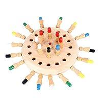 QRYY キッズ木製メモリーマッチスティック子供チェスゲーム初期教育玩具3Dパズルファミリーパーティーカジュアルゲーム玩具