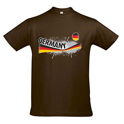 Fanshirt Herren GERMANY, Deutschland Ländershirt EM / WM Trikot S-XXL , Earth , S