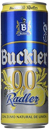 Buckler 00 Radler Limon Cerveza - Caja de 24 latas x 330 ml - 7,92L