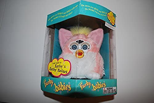 Rosa AND Weiß W  Gelb MOHAWK PEACH FURBY BABY 1999 by Tiger Electronics