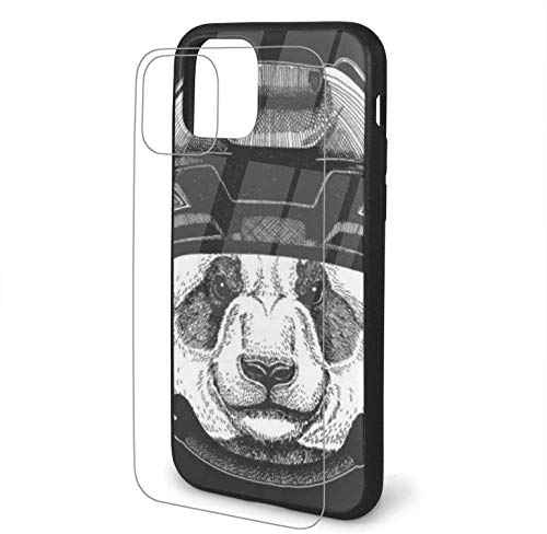 Diseño con Panda Bear Bamboo Wild Animal Compatible para iPhone 11 Funda Hard Pc + Soft TPU Protector a Prueba de Golpes Thin Phone Cover Pro Max-iphone11-
