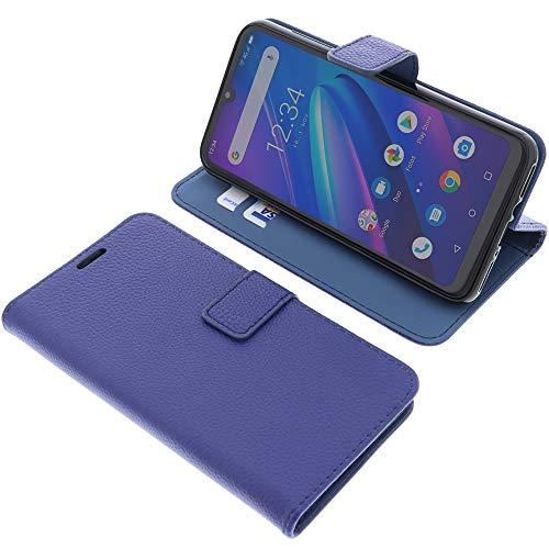foto-kontor Tasche für Beafon M6 Book Style blau Schutz Hülle Buch