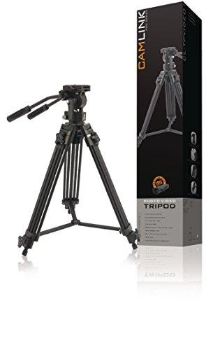 Camlink TPVIDEO1 Video-Stativ (mit Tragetasche und Pro Video Fluidkopf