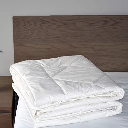 "Woolino Luxurious Australian Washable Wool Comforter, Mid-Weight Wool Fill 85oz King Wool Duvet Quilt Blanket, Size 90""x104"", King"